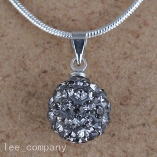 Austrian Crystal Pave Disco Clay Ball Beads Necklace Pendants Without
