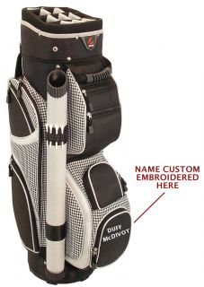 CUSTOM EMBROIDERED Hunter Eclipse Ladies Cart Golf Bag Black