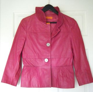 NEW Cynthia Steffe Dk Pink Leather Jacket Original Retail Over 500 00