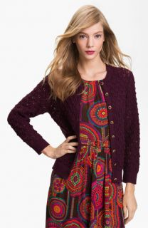 Trina Turk Lonely Hearts Merino Wool Cardigan