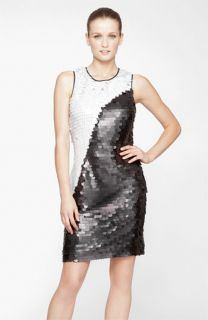 Marc New York by Andrew Marc Colorblock Paillette Shift Dress
