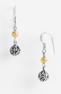 Lois Hill Repousse Two Tone Ball Drop Earrings