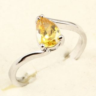 Pear Cut Yellow Sapphire 91 Ring