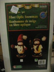 Danson Decor Fiber Optic Rocking Snowman X87421 Green Christmas Xmas