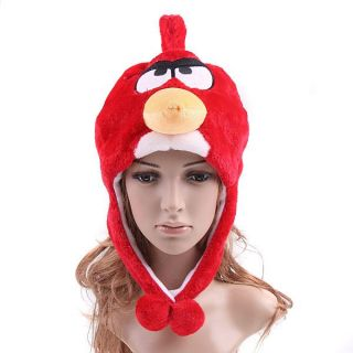 Angry Birds Plush Cap Hat Cosplay Red Bird Cartoon Cap Hat Warm