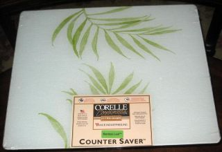 Corelle Bamboo Leaf Glass Cutting Board Large Size New