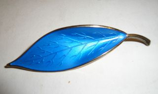 ANDERSEN BLUE ENAMEL AND STERLING BROOCH   NORWAY   DAVID ANDERSON