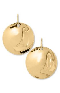 Robert Lee Morris Gold Plated Disc Earrings