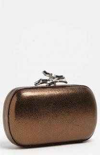 Diane von Furstenberg Lytton   Small Metallic Leather Clutch