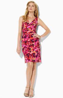Lauren Ralph Lauren Cowl Neck Matte Jersey Dress