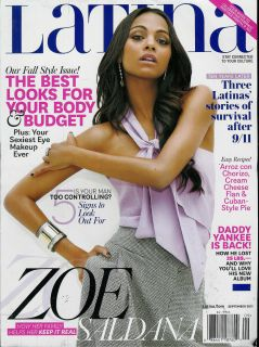 MAGAZINE SEPTEMBER 2011 ZOE SALDANA DADDY YANKEE 9 11 TEN YEARS LATER