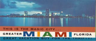 Brochure Greater Miami Beach Florida Dade County Pictures