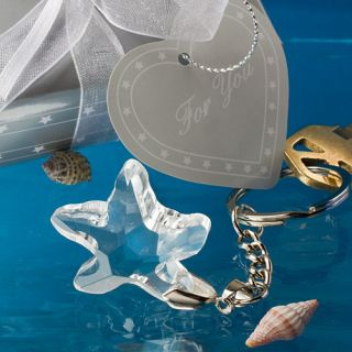 Crystal Beach Wedding Favor Starfish Key Chain