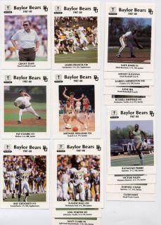 1987 Baylor University Bears Hillcrest Sports Set Teaff