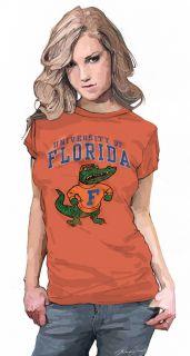 UNIVERSITY OF FLORIDA GATORS WOMENS T SHIRT TOP S