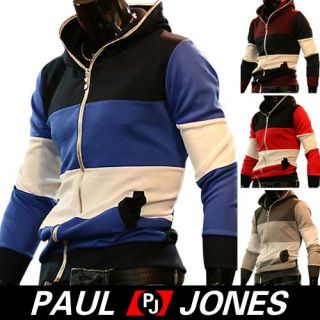 Paul Jones Mens Colorful Strap Basic Trendy Coats Jackets Outerwear