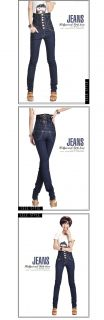 Title D3028 Japan Korea Fashion High Waist Tight Skinny Jeans