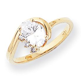 New 14k Gold Oval 03Ct vs Diamond Gemstone Ring Sizes 4 9 Pick Your