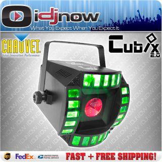 Chauvet Cubix 2 0 LED DJ DMX RGB Centerpiece Multi Color Lighting