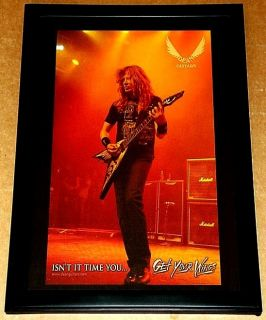 Dave Mustaine Megadeth Live Dean Guitar Framed Promo