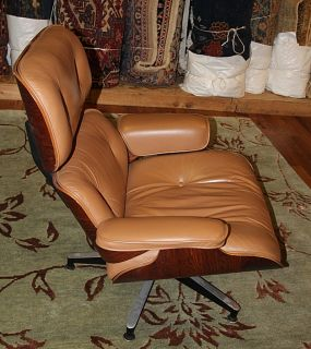 Superb Early Rosewood Herman Miller Eames Lounge Chair w Ottoman Brown