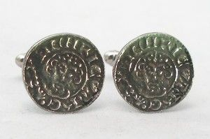 King John Penny Medieval Coin Cufflinks in Fine English Pewter Gift