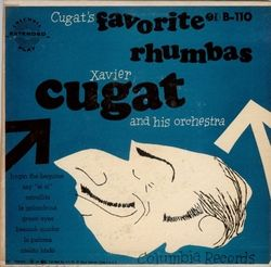 Xavier Cugat Rumba Album 2 45 EP w Art Cover 8 Songs