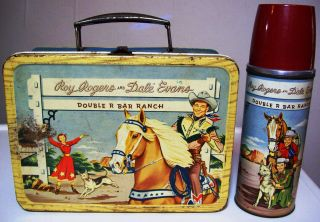 Roy Rogers and Dale Evans Double R Bar Ranch 1950s Lunchbox and