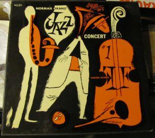 NORMAN GRANZ JAZZ CONCERT #1 2X VINYL LP BOX BUDDY RICH COLEMAN