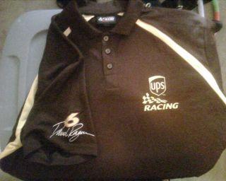 UPS 6 David Ragan Chase Authentics Polo Shirt NASCAR Roush