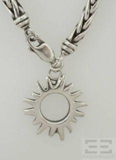 Angela Cummings Sterling Silver Coil Sun Charm Bracelet