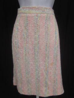 Vint Emanuel UNGARO Pink Tweed Blazer Skirt Suit Sz 10