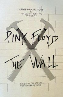Pink Floyd Nassau Coliseum 1980 Concert The Wall Moon Animals Poster