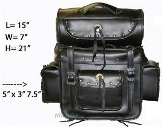 Sissybar Bag Tbar Travel Tour Bag Harley David Honda Suzuki Kawasaki