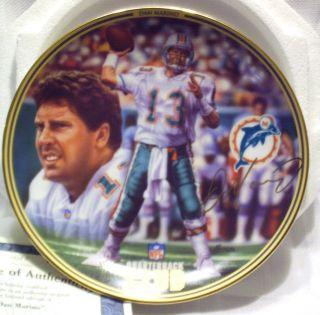 Dan Marino NFL Quarterback Club Collector Plate Bradford Exchange