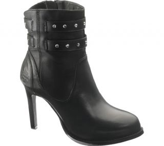 Harley Davidson Lindley Womens Leather Biker Ankle Boot Shoes All