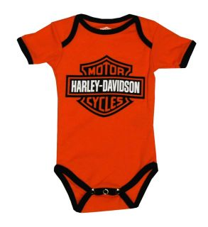 Harley Davidson Motorcycles Two Piece Baby Snapsuit Creeper Romper Set
