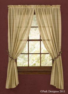 Window Curtain Panel Pair Sheer 96 Long Park Designs Star Vine