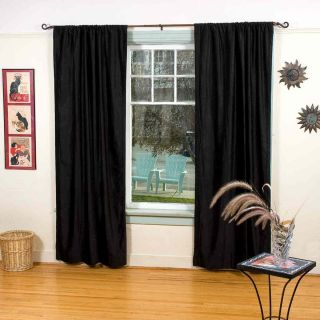 Black Velvet Curtains Drapes Panels with Pole Tops