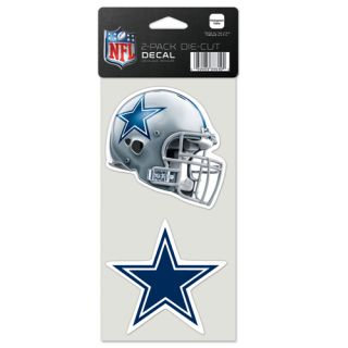 Dallas Cowboys Primary Helmet Team Logo Die Cut Decals 2 Pack 4 x 4