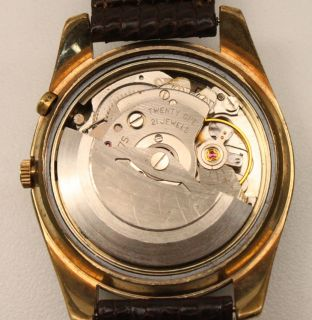 Buren 21J Automatic Day Date Calendar Mens Vintage Swiss Wrist Watch