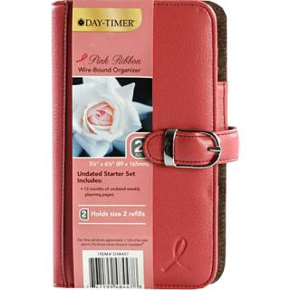 Day Timer Pink Ribbon Leather Undated Planner