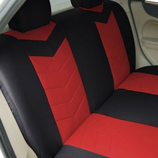 Synthetic Leather Semi   Custom Car Seat Covers Solid Bench Ruby Red