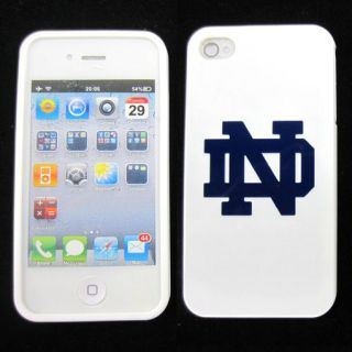 Apple iPhone 4 4S 4G Notre Dame Fighting Irish Rubber Skin Case Phone