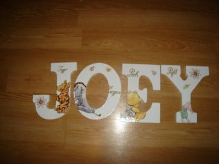 Custom Nursery Wooden Wall Letters Disney Classic Pooh