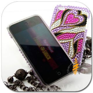 Purple Bling Hard Cover Skin Case iPod Touch iTouch 4G 4th Generation