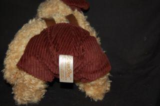 10 Plush Dan Dee Curly Teddy Bear Corduroy Cap Pants
