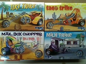 Retro Hobby MPC 1 25 Trick Trike Series custom chopper trikes