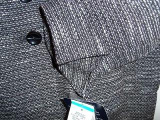 evan picone black ivory tweed skirt suit 16 or 18 nwt
