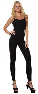Sexy Womens Black Basic Unitard Leotard Dance Costume
